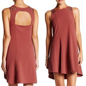 Free People Baby Love Trapeze Dress Large mauve